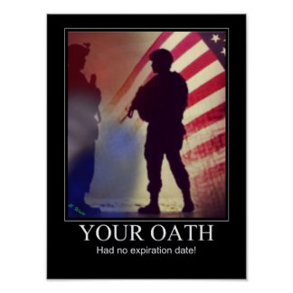 Military Oath Reminder Poster