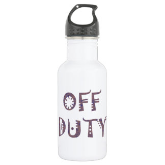 military Off Duty Black white yellow nice grey 532 Ml Water Bottle
