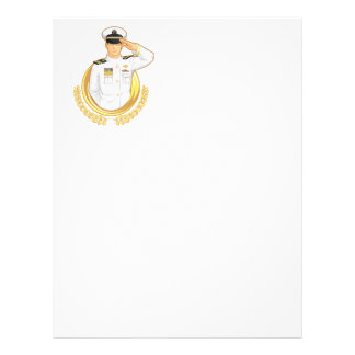 Military Officer in Salute Gesture Flyer