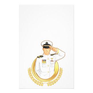 Military Officer in Salute Gesture Custom Flyer