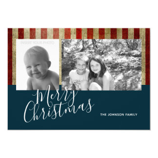 Military / Patriotic Christmas 2 photo collage Card