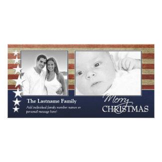 Military Patriotic Christmas Photo Card
