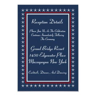 Military Patriotic Wedding Reception Cards