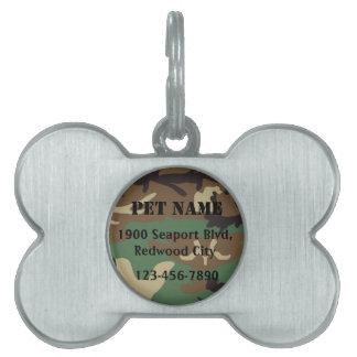 Military Pet Pet Name Tag