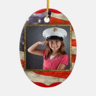 Military Photo Ceramic Ornament