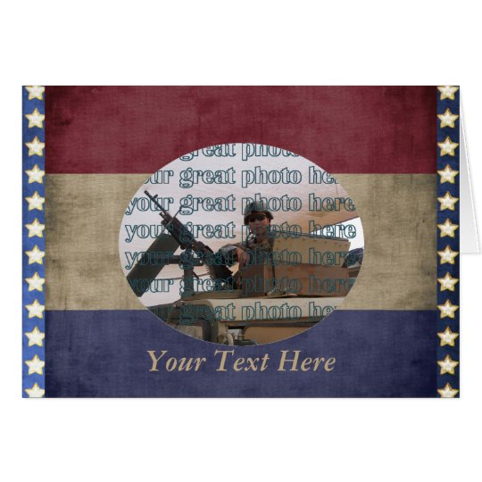 Military Photo Frame Custom Personalised Card