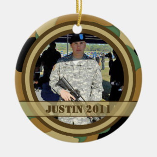 Military Photo Keepsake Ornament