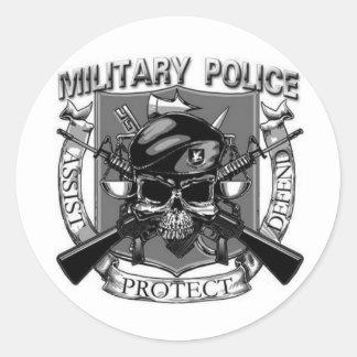 Military Police Classic Round Sticker