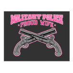 Military Police Proud Wife Postcard