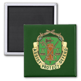 Military Police Square Magnet