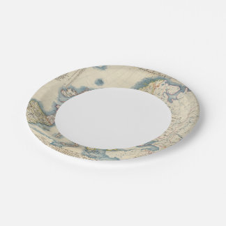 Military Political Map of Europe 7 Inch Paper Plate