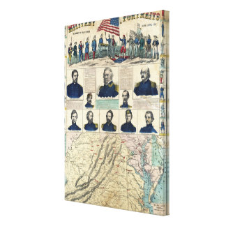 Military Portraits Stretched Canvas Print
