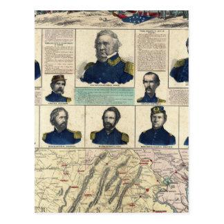 Military Portraits Postcard