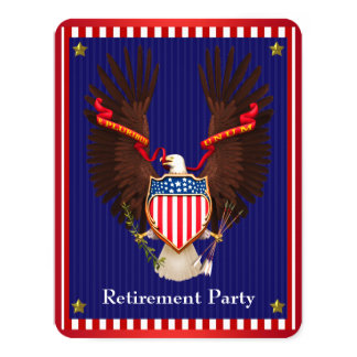 Military Retirement Party 11 Cm X 14 Cm Invitation Card