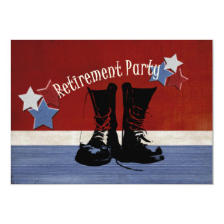 Military Retirement Party Card
