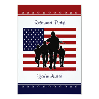 Military Retirement Party Personalised Invitation
