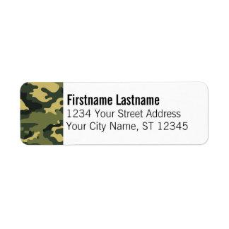 Military Return Address Labels