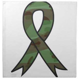 Military Ribbon Printed Napkin