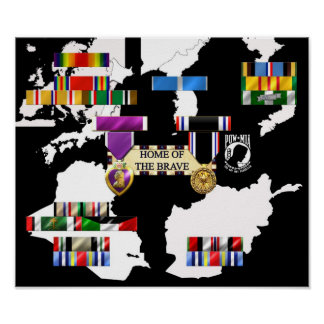 Military Ribbons Poster