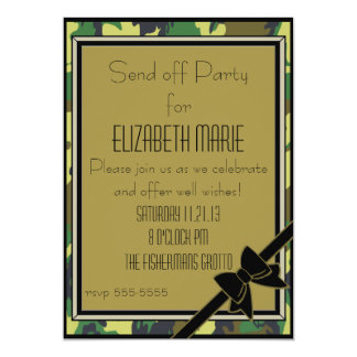 Military Send Off Party Card