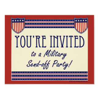 Military Send-off Party Invitations