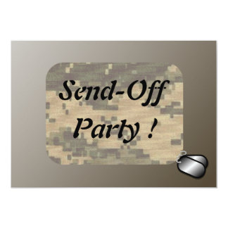 Military Send Off Party Patriotic Card