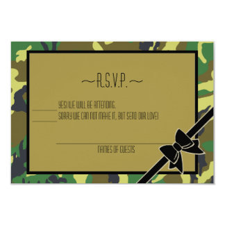 Military Send Off Party-RSVP 9 Cm X 13 Cm Invitation Card
