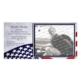 Military Send Off Photo Greeting Card