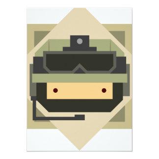 Military Set - Army Soldier 14 Cm X 19 Cm Invitation Card