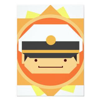 Military Set - Officer 14 Cm X 19 Cm Invitation Card