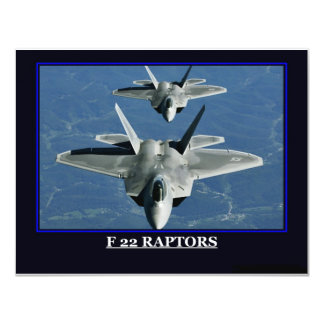 "Military Ships Planes emblems 4.25"" X 5.5"" Invitation Card"