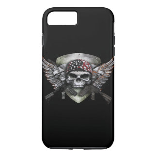 Military Skull With Crossed Gun Special Warfare iPhone 8 Plus/7 Plus Case