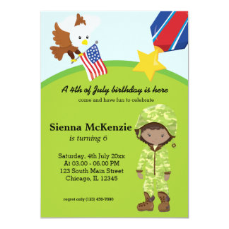 Military Soldier  Girl Card