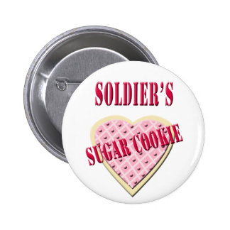 Military Soldier's Sugar Cookie Button