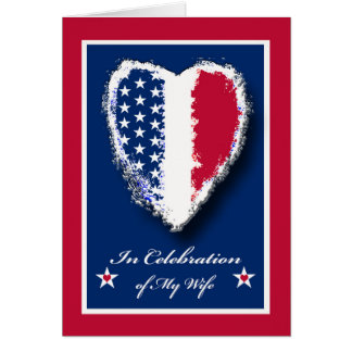 Military Spouse Appreciation Day for Wife, Heart Card