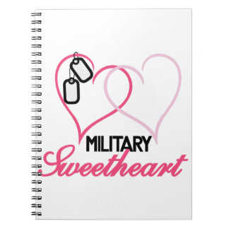 Military Sweetheart Spiral Note Books