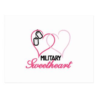 Military Sweetheart Postcard