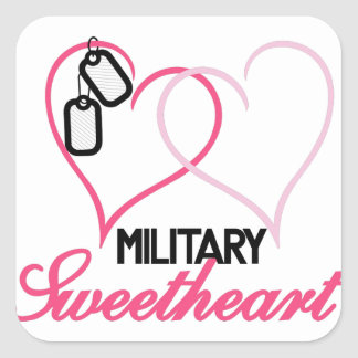 Military Sweetheart Square Sticker