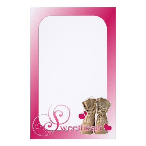 Military Sweetheart Stationery Design
