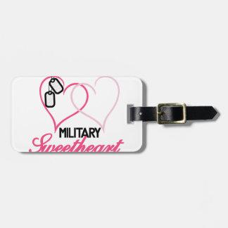 Military Sweetheart Travel Bag Tags
