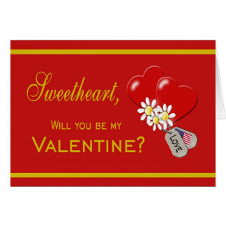Military Sweetheart Valentine Card