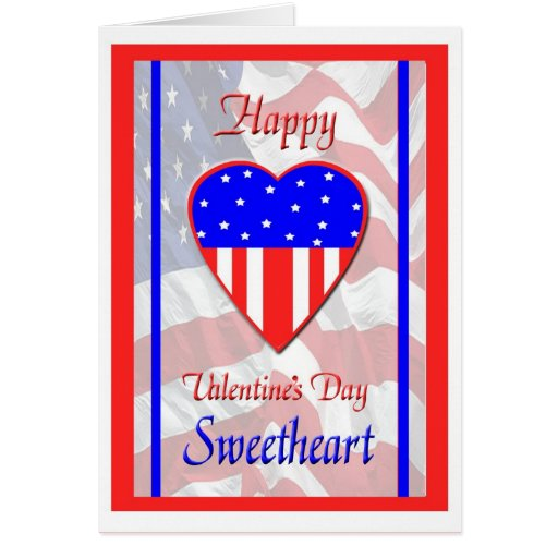 Military Sweetheart Valentine's Day Card