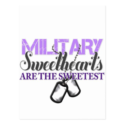 Military sweethearts postcards