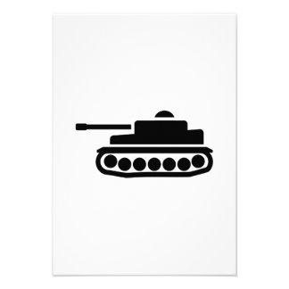 Military tank custom invitation