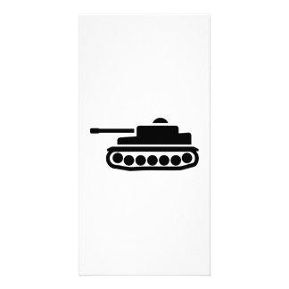 Military tank custom photo card