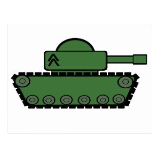 Military Tank Postcard