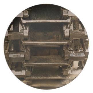 military tank wheel party plates