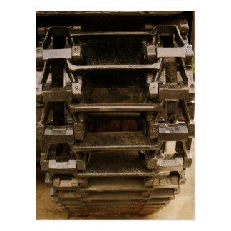 military tank wheel postcard