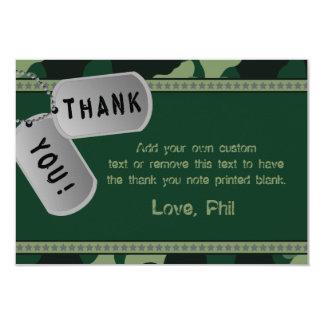 Military Thank You Cards 9 Cm X 13 Cm Invitation Card