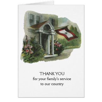 Military: Thank You for Family's Service Greeting Card